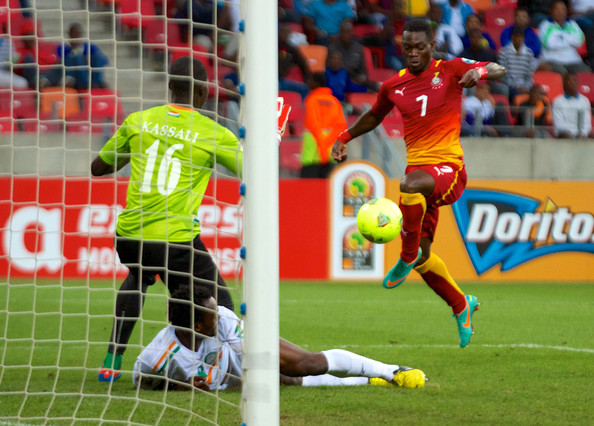 Ghana's Christian Atsu scores the second goal against Niger